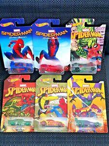 Hot Wheels Spider-Man Collection Set of 6 - Unopened / Sealed