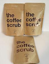 The Coffee Scrub - 100% Organic/Natural Recipe - Coconut - Body Scrub- Lot of 3