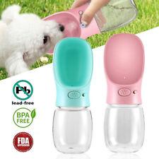 Portable Pet Dog Water Bottle Travel Cup Outdoor Feeder Dispenser Drinking Bowl