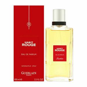 Guerlain Habit Rouge Men's 3.3 oz  Eau de Parfum 100 ml