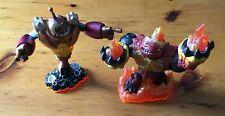 Lot of 2 Skylanders Giants Figures - Bouncer & Hot Head - Loose