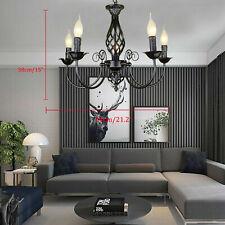 Kronleuchter 5Kopf Deckenlampe Schwarz Lüster Hängelampe Wohnzimmer Pendelleucht