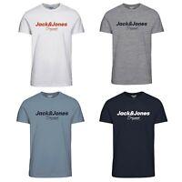 Jack & Jones Logo Printed Short Sleeves Mens T-Shirt Crew Neck Casual Tee Top