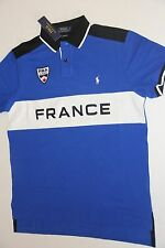 Polo Ralph Lauren Men Blue Shirt Small Pony France Flag Small S CUSTOM FIT