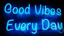 """New Good Vibes Every Day Beer Bar Light Lamp Neon Sign 24""""x20"""""""