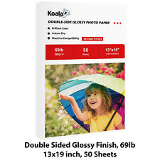 Koala 50 Sheets 13x19 Premium Double Sided Glossy Inkjet Printer Photo Paper HP