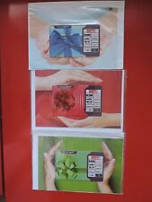 3 NEW & SEALED GIFT CARDS FROM ISRAEL NO VALUE. COLLECTORS ITEM LOT 2