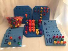 Lakeshore Battat Peg Board Stacking Pegs Count & Match 172pc Math Manipulatives