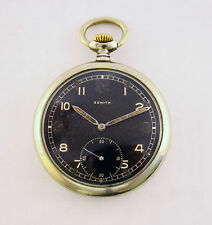 Very rare !!! Mens ZENITH pocket watch DH Military WW II Watch