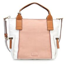 ZB6792244 New Fossil Emerson Pink/White/Brown Leather Shopper Hand Bag £219.00