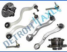 New 8pc Premium Front Lower Control Arm Kit + Wheel Hub and Bearings w/ ABS