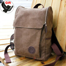 Men's Canvas Backpack Rucksack Shoulder School Travel Hiking Laptop Bag Satchel