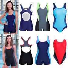 US Women's Professional One Piece Pro Athletic Training Swimsuit Race Swimwear