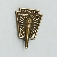 Vintage Balfour National Honor Society Gold Pin Gold Filled 1960's