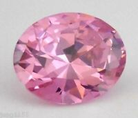 4.19 CT AAA Natural Pale Pink Zircon Diamonds Oval Cut 8X10MM VVS Loose Gemstone