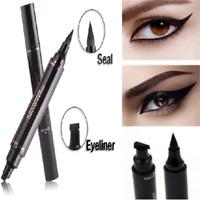Pro Black Waterproof Eyeliner Stamp Makeup Cosmetic Eye Liner Pencil Liquid