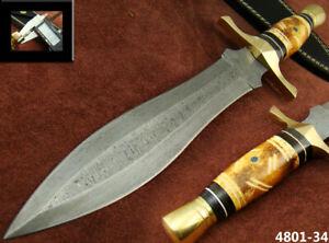 ALISTAR SUPERB HANDMADE DAMASCUS STEEL KNIFE DOUBLE EDGE HUNTING DAGGER 4801-34