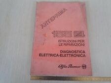 MANUALE ORIGINALE ALFA ROMEO DIAGNOSTICA ELETTRONICA SPECIFICO PER 155 Q4 4x4