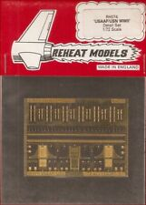 Reheat Models Photo-Etch WWII USAAF/USN Detail Set for 1/72 Scale Model Kit