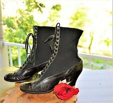 Sale! Victorian Women's Lace Up Boots 1900-1920's Hedberg Bros Size 5.5 - 6