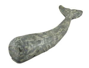 Zeckos Distressed Finish Bamboo Root Sperm Whale Statue