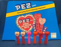 Vintage 6 Pez Lot Happy Valentines Day Heart & Floor Header Display Card Sign