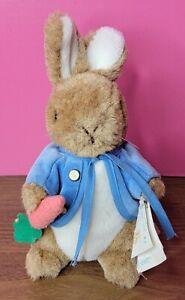 New Eden Waggie Musical Beatrix Potter Peter Rabbit Plush Music Box Wind Up Key