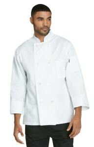 NWT DICKIES CLASSIC 8 BUTTON BUTTON CHEF COAT WHITE DC45