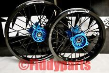 """NEW EXTRA STRONG PIT BIKE W RACING BLUE SDG WHEELS 14 """" FRONT 12 """" REAR 15MM"""