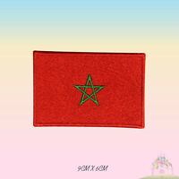 Morocco National Flag Embroidered Iron On Patch Sew On Badge Applique