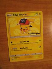 LP Pokemon ASH'S PIKACHU Card BLACK STAR PROMO Set SM111 I CHOOSE YOU The Movie