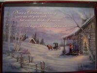 LEANIN TREE  CHRISTMAS CARD SET BEAUTIFUL OLD TIME CHRISTMAS SCENE 10 PK NEW !
