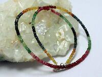 Rubin Saphir Smaragd Kette edelsteinkette Bunt-Farbe Regenbogenkette Halskette