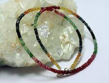 rubino zaffiro smeraldo collana pietre preziose bunt-farbe ARCOBALENO