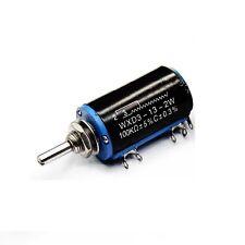 WXD3-13-2W 100K ohm Rotary Multiturn Wirewound Potentiometer