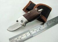 Holzgriff Mini Messer Outdoor Klapp Camping Werkzeuge Sharp Sabre Key Zubehör