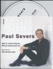 PAUL SEVERS - Wat is 't leven bij jou / Moi je t'aime pour ca CD SINGLE 3TR 2001