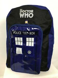 NEW BBC Doctor Who Mens Police Box Type 40 Time Machine Travel Zip Backpack Bag
