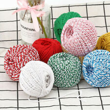 100m Cotton Baker's Twine Rope String Cord Gifts Wrapping Packaging Rope DIY UK