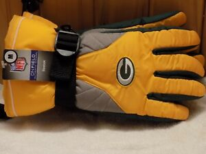 Reebok On Field Authentic Apparel NFL Green Bay Packers Winter Gloves M NEW