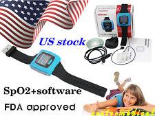CE FDA Wrist Pulse Oximeter Fingertip SpO2 probe Sleep Heart rate Monitor CMS50F