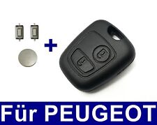 2Tasten Spare Key Housing for Peugeot 106 206 + Battery 2x Microbuttons