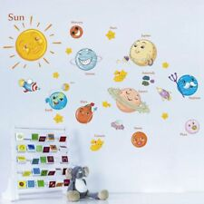 School Mural Children Outer Space Planets Wall Stickers Solar System Decals