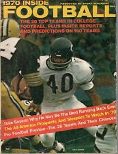 1970 Inside Football magazine, Gale Sayers, Chicago Bears, All-Americans ~ Fair