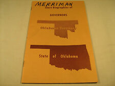 Booklet SHORT BIOGRAPHIES OF GOVERNORS Oklahoma Territory 1975 [Y35e]