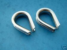 2 x 5MM STAINLESS STEEL 316 HEART SHAPED THIMBLES