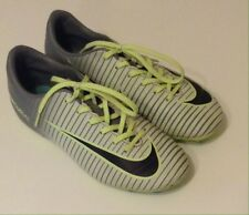Nike Soccer Cleats Mercurial Firm Ground Green and Gray Youth Size 2.5