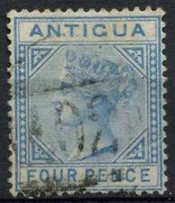 Antigua 1879 QV SG#20, 4d Blue Wmk CC Used #A99941