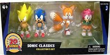 SONIC THE HEDGEHOG CLASSICS COLLECTOR'S SET 20TH ANNIVERSARY 4 FIGURES new