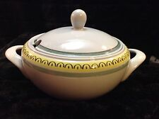 """Crown Band by Arabia of Finland Covered Tureen 13"""" Handle to Handle"""